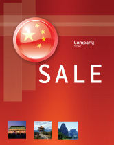 Flags/International: Flag of China Sale Poster Template #03690