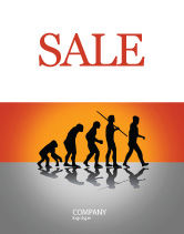 Education & Training: Human Evolution Sale Poster Template #03694