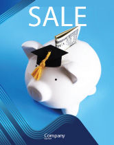 Financial/Accounting: Education Costs Sale Poster Template #03703