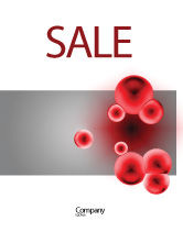 Medical: Erythrocytes Sale Poster Template #03708