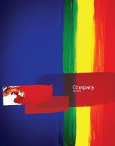 Art & Entertainment: 各种颜色的油漆海报模板 #03714
