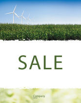 Nature & Environment: Wind Mills Sale Poster Template #03715
