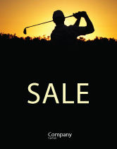 Sports: Golf Game On The Sunset Sale Poster Template #03731