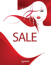 Careers/Industry: Glamour Girl Sale Poster Template #03744