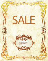 Abstract/Textures: Fanciful Frame Sale Poster Template #03746
