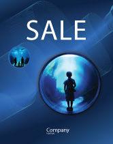 Education & Training: Public Aquarium Sale Poster Template #03758