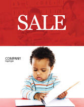 Education & Training: Kid Learning Sale Poster Template #03759
