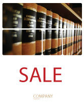 Education & Training: Law Books Sale Poster Template #03787