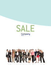 People: Business Ladies Sale Poster Template #03813