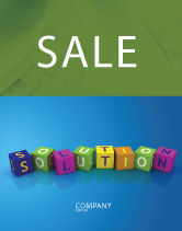 Education & Training: Solution 3D Sale Poster Template #03819