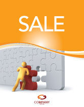Business: Missing Part Completing Sale Poster Template #03829