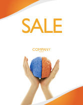 Consulting: Cerebral Hemispheres Sale Poster Template #03840
