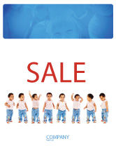 People: Baby Emotions Sale Poster Template #03852