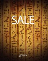 Religious/Spiritual: Modelo de Cartaz - hieróglifos egípcios #03864