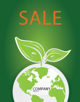 Nature & Environment: Green Planet Sale Poster Template #03867