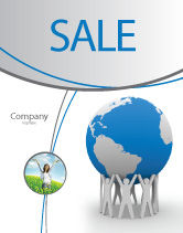 Global: Save the World Sale Poster Template #03868