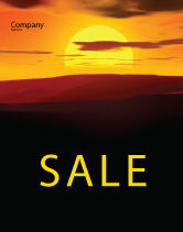 Nature & Environment: Sunset Sale Poster Template #03871
