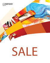 Art & Entertainment: Oil Painting Sale Poster Template #03873