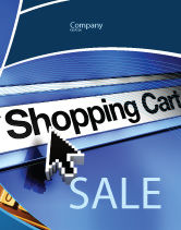 Business: e-Shopping Cart Sale Poster Template #03878