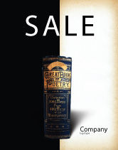 Education & Training: Book of Poetry Sale Poster Template #03879