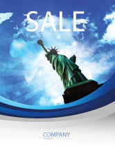 America: America and World Sale Poster Template #03882