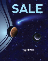 Technology, Science & Computers: Fallen Star Sale Poster Template #03889