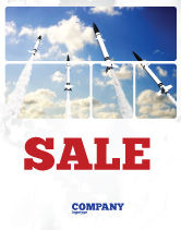 Military: Missiles Sale Poster Template #03894
