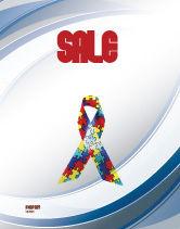 Religious/Spiritual: Autism Awareness Ribbon Sale Poster Template #03914