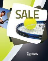 Sports: Tennis Ball Sale Poster Template #03918
