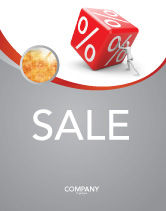 Business Concepts: Rising Percent Sale Poster Template #03922