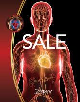 Medical: Blood Vascular System Sale Poster Template #03930