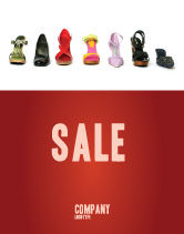 Careers/Industry: Schoenen Lady's Poster Template #03937