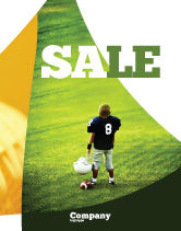 Sports: American Football in School Sale Poster Template #03952