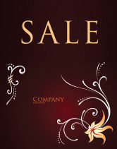 Abstract/Textures: Ornament Sale Poster Template #03962