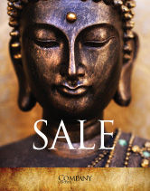 Religious/Spiritual: Buddha In Meditation Sale Poster Template #03973