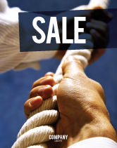 Business Concepts: Climbing Up Sale Poster Template #03977