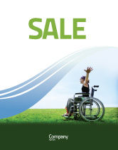 People: Handicapped Person Sale Poster Template #03985