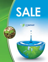 Nature & Environment: Blue Water Of A Green Planet Sale Poster Template #03986