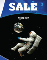 Technology, Science & Computers: Cosmonaut Sale Poster Template #03991