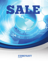 Global: Communication Media Sale Poster Template #04028