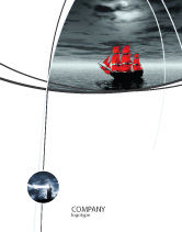 Careers/Industry: Scarlet Sails Sale Poster Template #04038