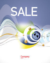 Telecommunication: Communication Network Sale Poster Template #04058