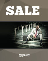 People: Economic Crisis Sale Poster Template #04061