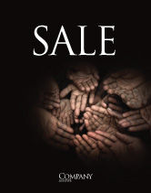 Religious/Spiritual: Poverty Sale Poster Template #04075