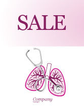 Medical: Human Lungs Sale Poster Template #04078