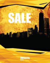 Construction: Skyline Of A City Sale Poster Template #04096