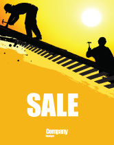 Careers/Industry: Roof Workers Sale Poster Template #04101