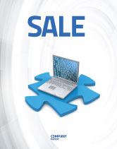 Technology, Science & Computers: Laptop Data Sale Poster Template #04108