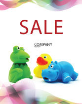 Education & Training: Stuffed Toys Sale Poster Template #04109