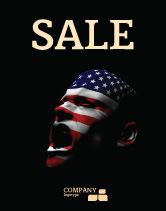 America: Voice of America Sale Poster Template #04120